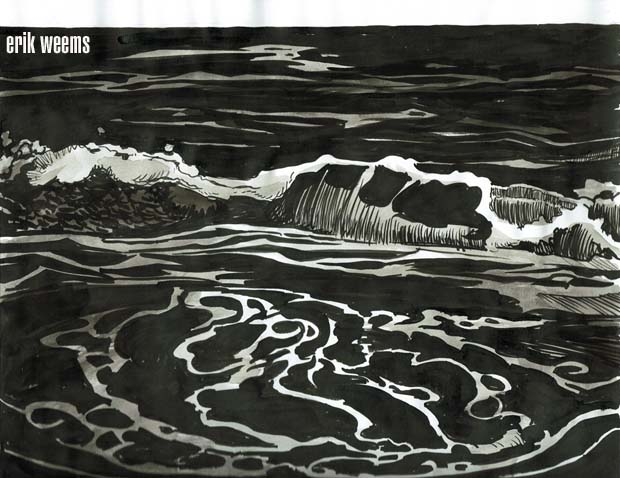 SB136 Ink wash Ocean turmoil