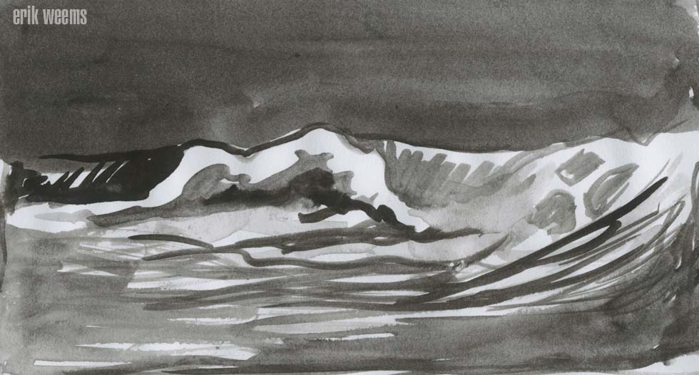 Ink Wash Sea