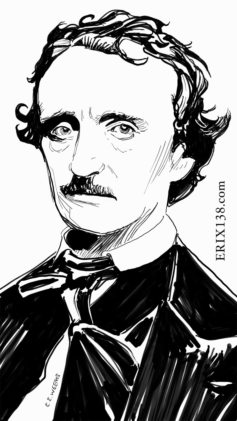 Edgar Allan Poe by Weems