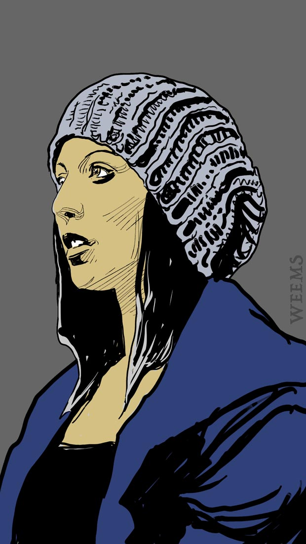 Girl with Knit Cap