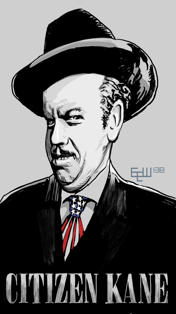 Citizen Kane art by Weems