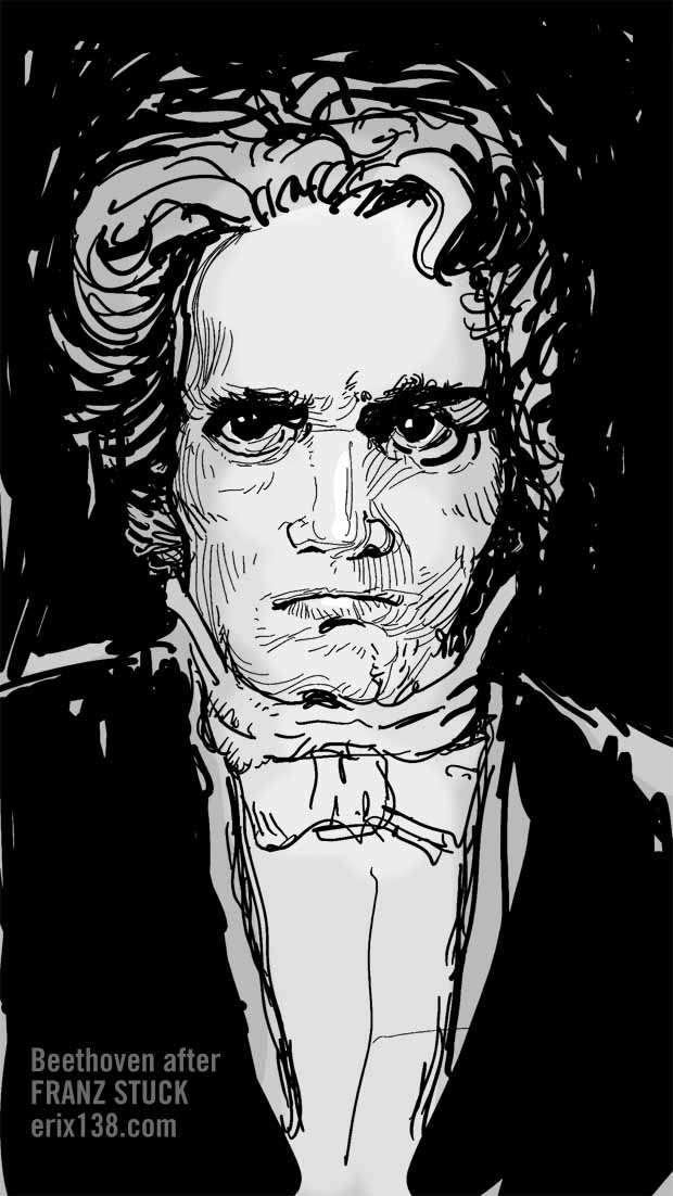 Beethoven after Franz Stuck