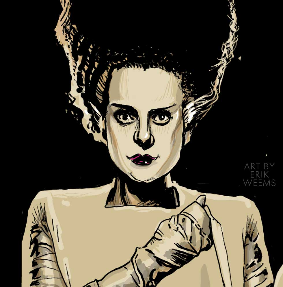 The Bride of Frankenstein - Elsa - art by Erik Weems